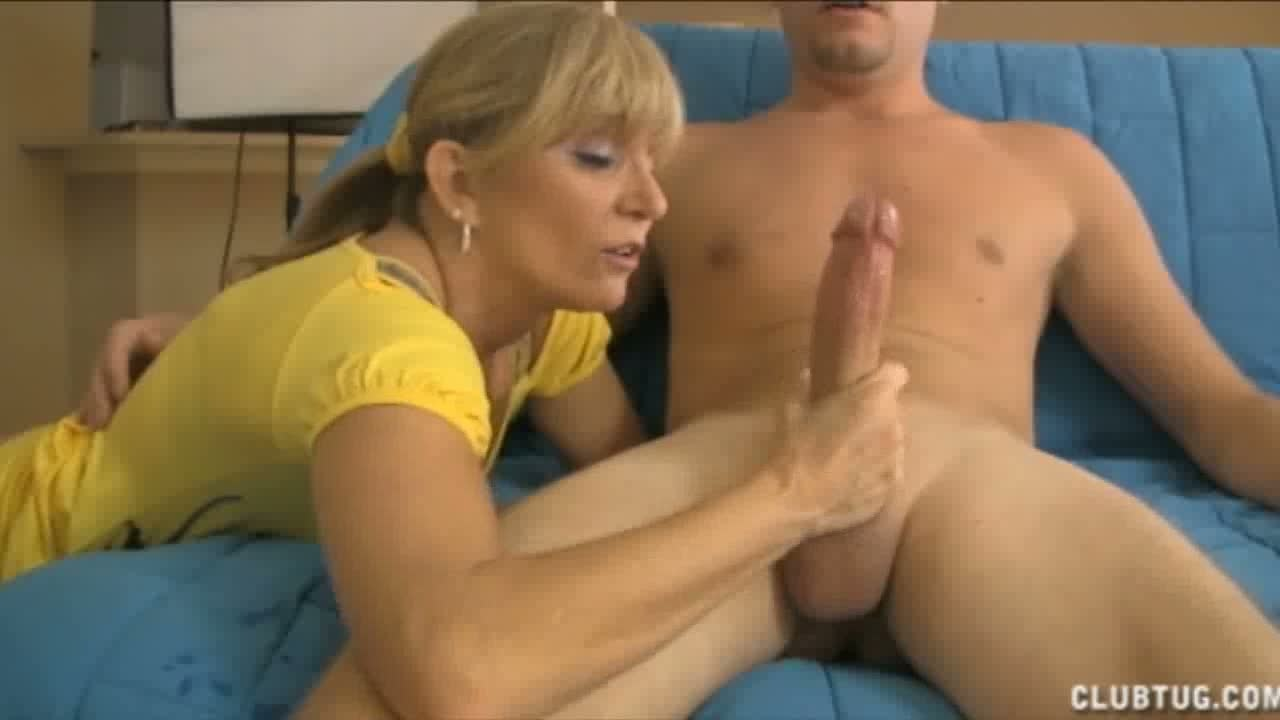 giving slutload Mother handjob